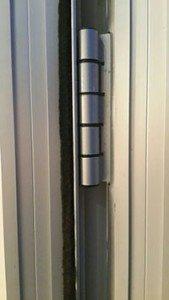 Aluminum door hinge